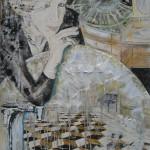 1012 paris 100X160cm acryl assemblage canvas