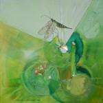 1072 libelle 100X100cm assemblage canvas
