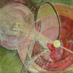 1098 tennis red 100X100 acryl canvas