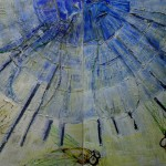 1099 sonnenblau 1+2 2X100X100cm acryl canvas